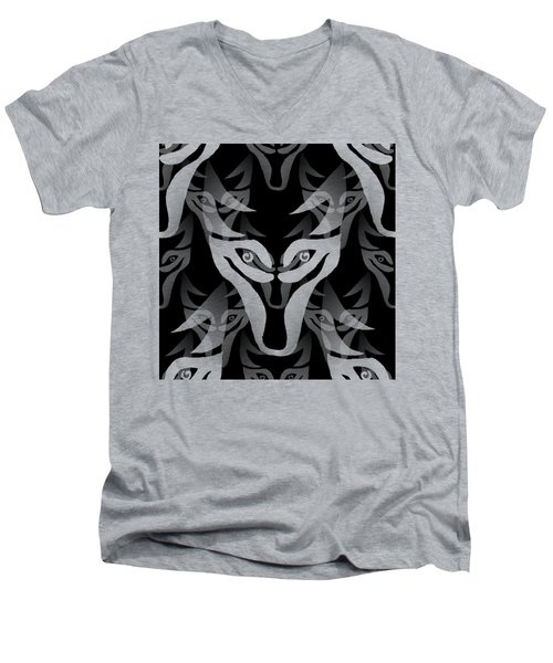 Background Choice Black Wolf Men's V-Neck T-Shirt