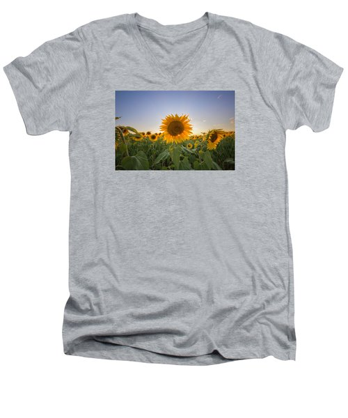 Backlit Men's V-Neck T-Shirt
