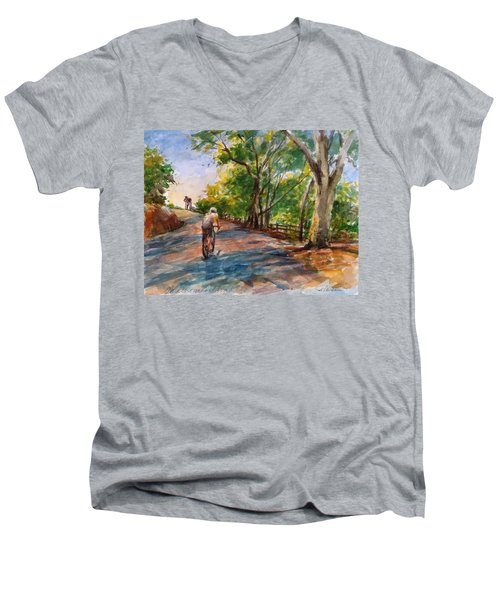 Backwoods Pedaling Men's V-Neck T-Shirt