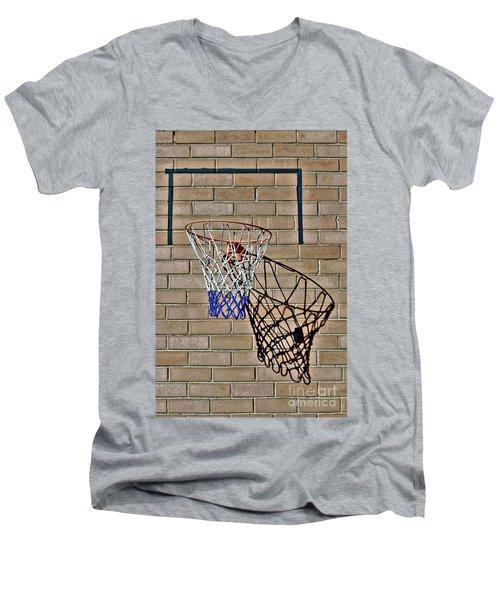 Backyard Basketball Men's V-Neck T-Shirt