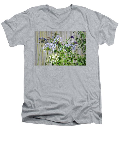 Backyard Flowers Men's V-Neck T-Shirt