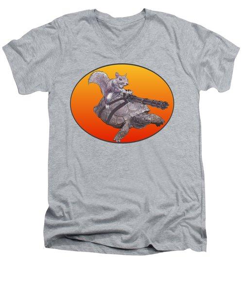 Backyard Modern Warfare Crazy Squirrel Men's V-Neck T-Shirt