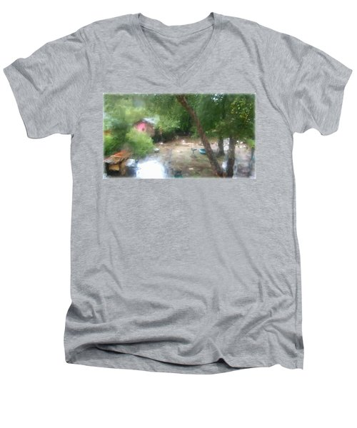 Backyard Rain Men's V-Neck T-Shirt