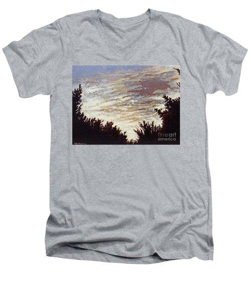 Backyard Sunset Men's V-Neck T-Shirt