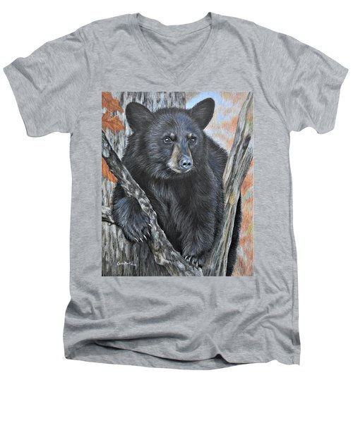 Backyard Visitor Men's V-Neck T-Shirt