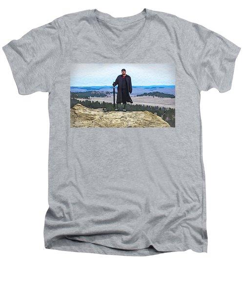 Bad Bear Standing Men's V-Neck T-Shirt