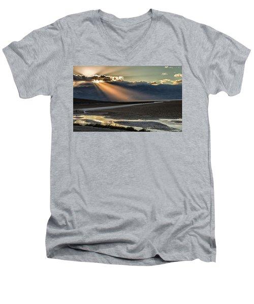 Bad Water Basin Death Valley National Park Men's V-Neck T-Shirt