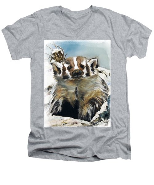 Badger - Guardian Of The South Men's V-Neck T-Shirt