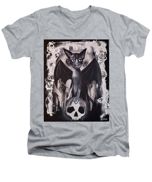 Badkitty Men's V-Neck T-Shirt