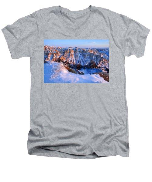 Badlands At Sunset Men's V-Neck T-Shirt
