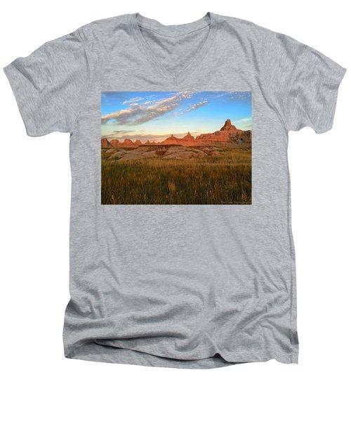 Badlands Evening Glow Men's V-Neck T-Shirt