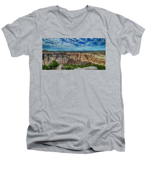 Badlands Landscape Men's V-Neck T-Shirt
