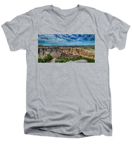 Badlands Landscape Men's V-Neck T-Shirt