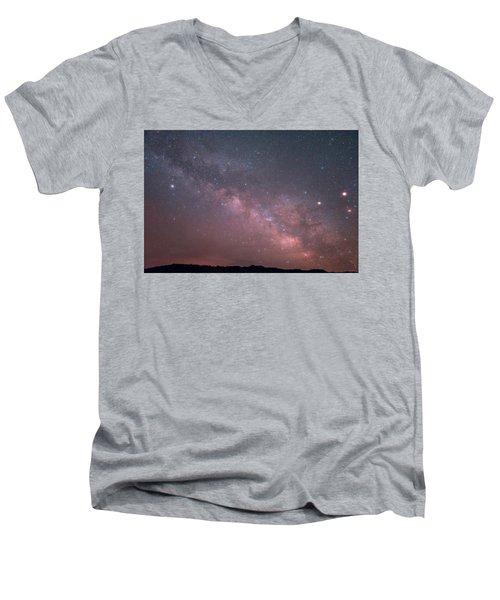 Badlands Milky Way Men's V-Neck T-Shirt
