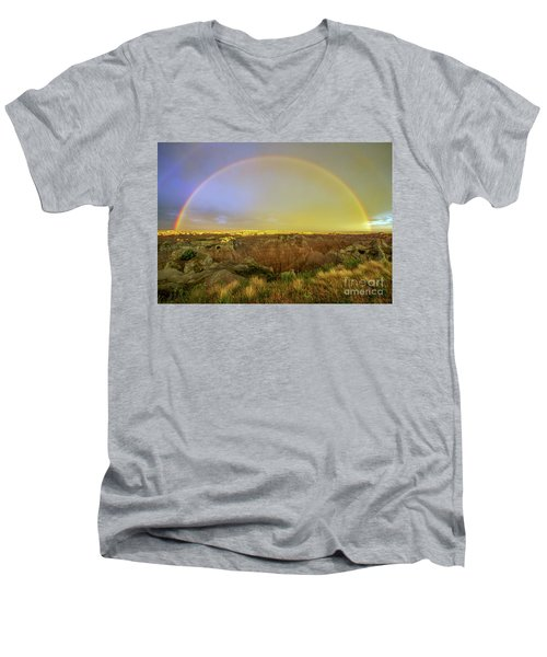Badlands Rainbow Promise Men's V-Neck T-Shirt