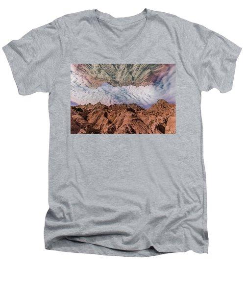 Badlands Reflection.... Men's V-Neck T-Shirt