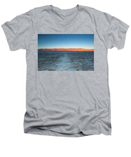 Men's V-Neck T-Shirt featuring the photograph Badwater  by Catherine Lau