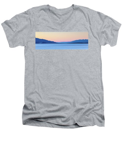 Men's V-Neck T-Shirt featuring the photograph Badwater - Death Valley by Peter Tellone