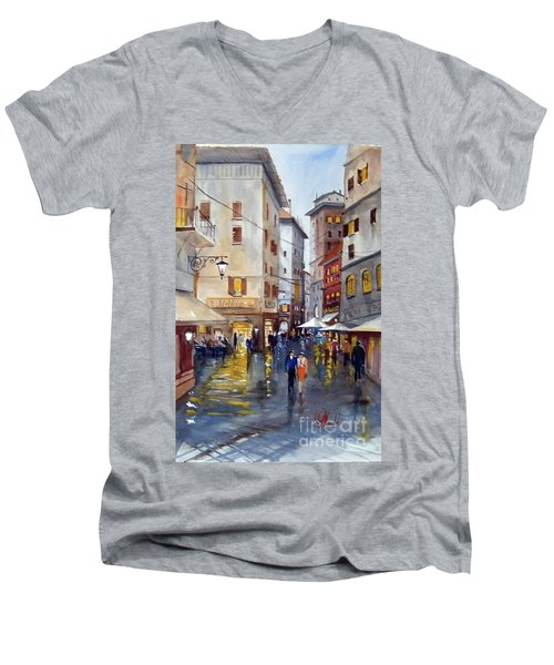 Baffettos Rome Men's V-Neck T-Shirt