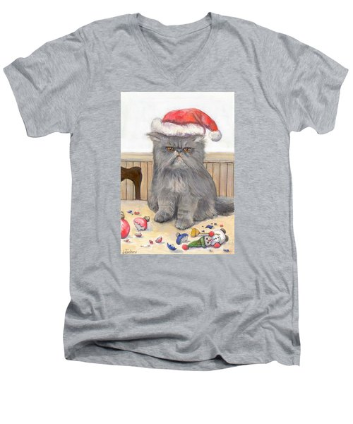 Bah Humbug Men's V-Neck T-Shirt by Donna Tucker