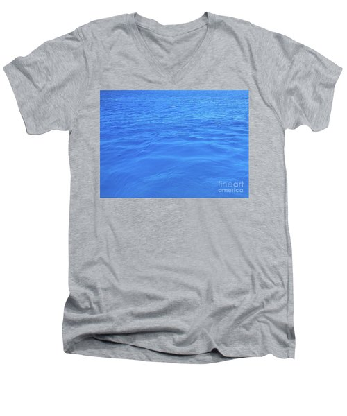 Bahama Blue Men's V-Neck T-Shirt