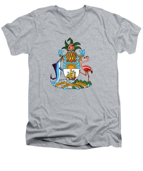 Bahamas Coat Of Arms Men's V-Neck T-Shirt