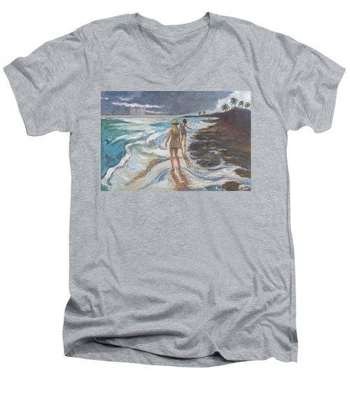 Bahia Honda Beach Men's V-Neck T-Shirt