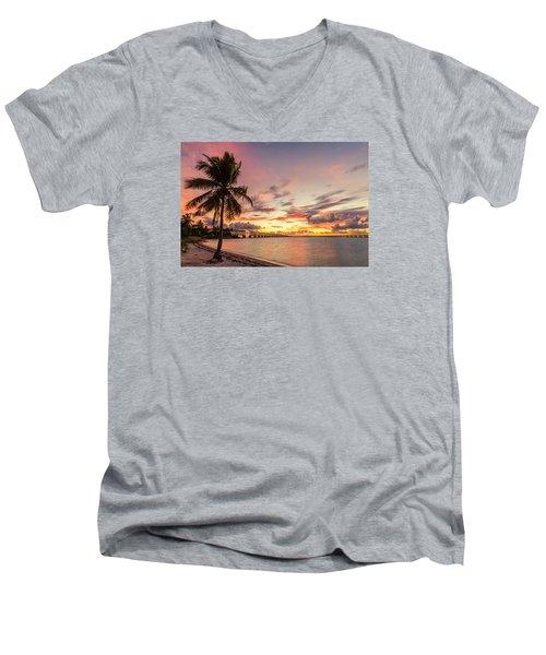 Bahia Honda State Park Sunset Men's V-Neck T-Shirt