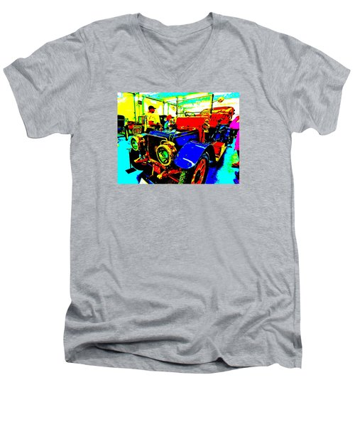 Bahre Car Show II 1 Men's V-Neck T-Shirt