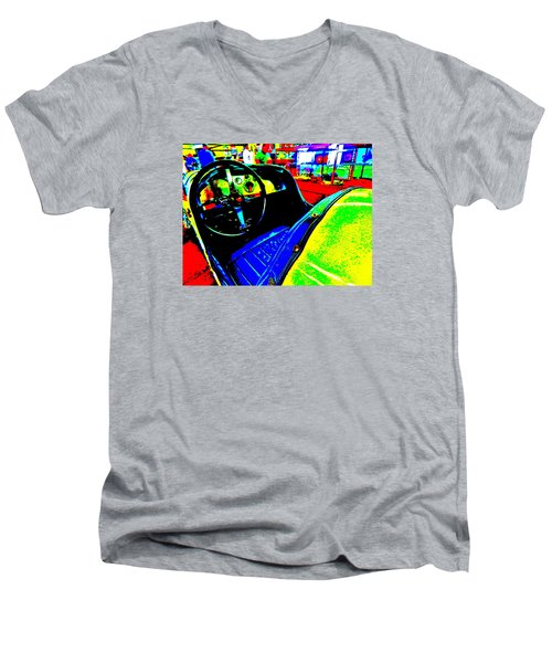 Bahre Car Show II 35 Men's V-Neck T-Shirt by George Ramos