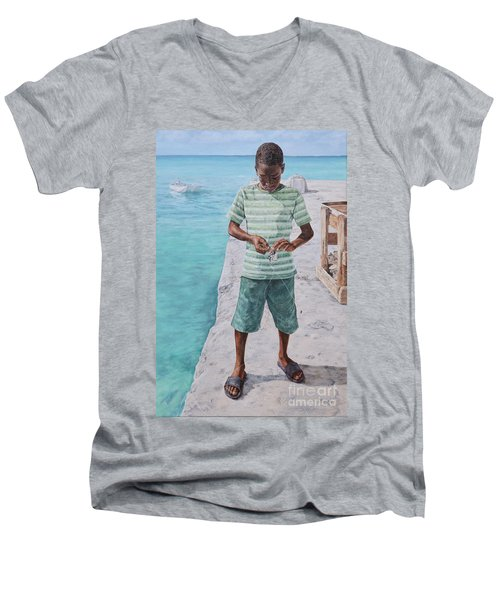 Baiting Up Men's V-Neck T-Shirt