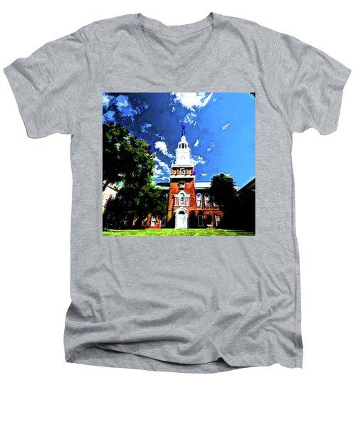 Baker Berry Men's V-Neck T-Shirt