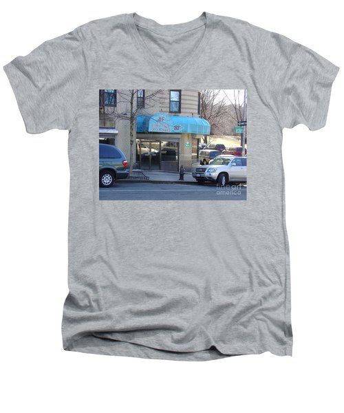 Men's V-Neck T-Shirt featuring the photograph Baker Field Deli by Cole Thompson