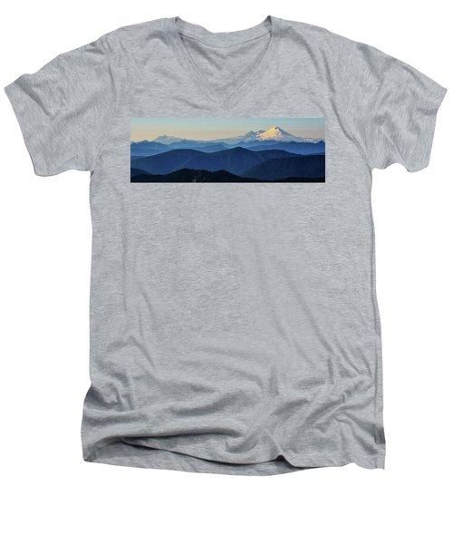 Baker From Pilchuck Men's V-Neck T-Shirt