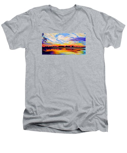 Baker's Sunset Men's V-Neck T-Shirt