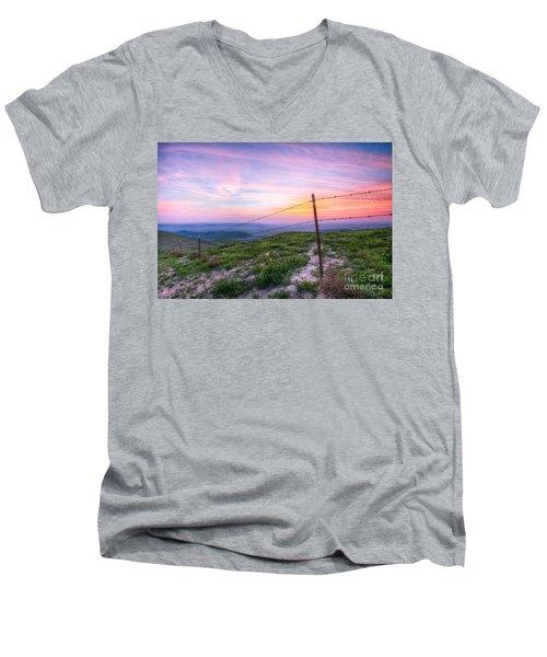 Bakersfield Hills  Men's V-Neck T-Shirt