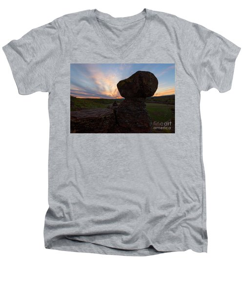 Men's V-Neck T-Shirt featuring the photograph Balanced by Mike Dawson