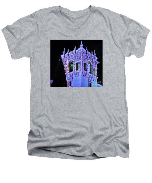 Balboa Park December Nights Celebration Details Men's V-Neck T-Shirt by Jasna Gopic