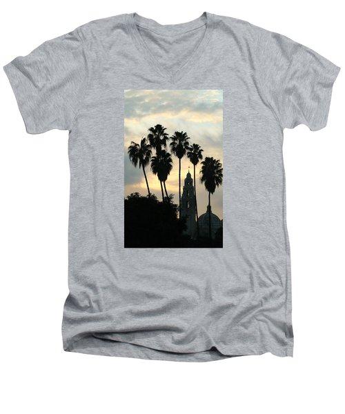 Balboa Park Museum Of Man Men's V-Neck T-Shirt by Christopher Woods