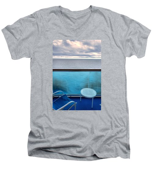 Men's V-Neck T-Shirt featuring the photograph Balcony View by Lewis Mann
