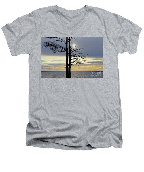 Bald Cypress Silhouette Men's V-Neck T-Shirt