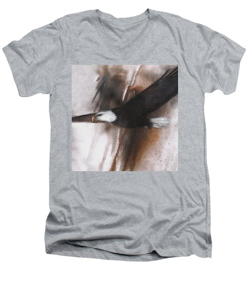 Bald Eagle Flight Men's V-Neck T-Shirt