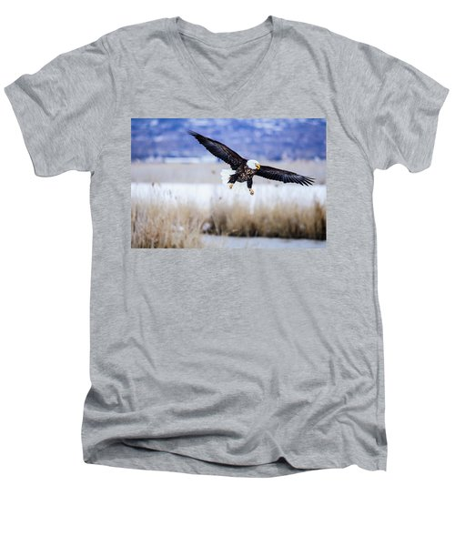Bald Eagle Landing Men's V-Neck T-Shirt