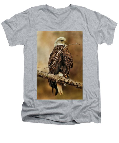 Bald Eagle Perch Men's V-Neck T-Shirt by TnBackroadsPhotos