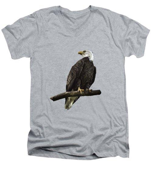 Bald Eagle Transparency Men's V-Neck T-Shirt