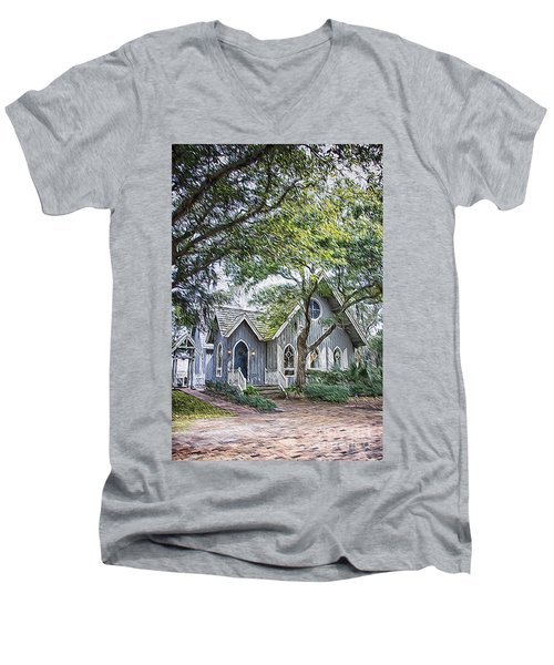 Bald Head Island Chapel Men's V-Neck T-Shirt
