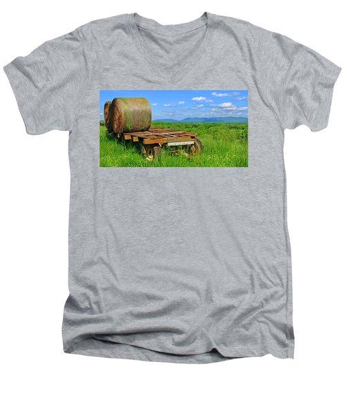 Bales At Rest Men's V-Neck T-Shirt