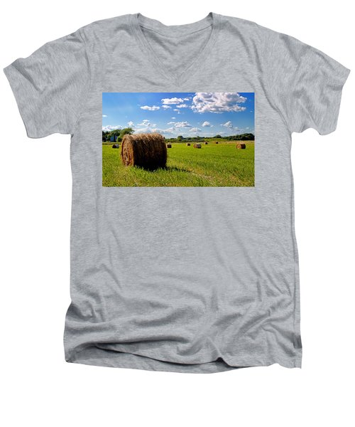 Bales Of Clouds Men's V-Neck T-Shirt