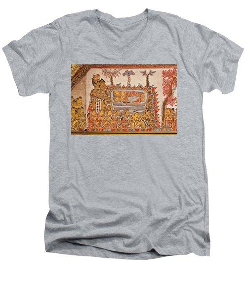 Men's V-Neck T-Shirt featuring the photograph Bali_d530 by Craig Lovell