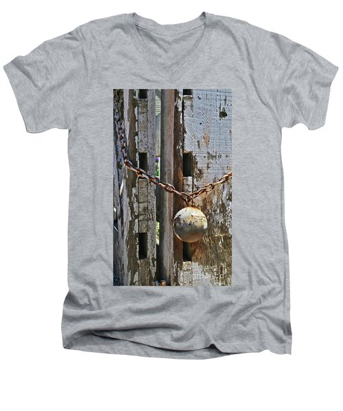 Ball And Chain Men's V-Neck T-Shirt